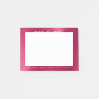 Costume branco cor-de-rosa brilhante do escritório post-it notes