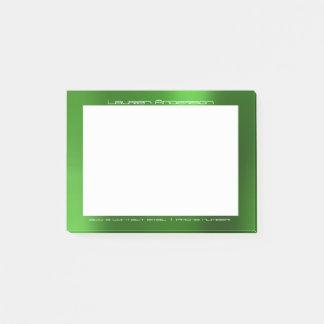 Costume branco verde tropical do escritório bloquinho de notas