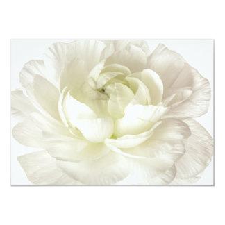 Costume chave alto do modelo da flor do ranúnculo convite 11.30 x 15.87cm
