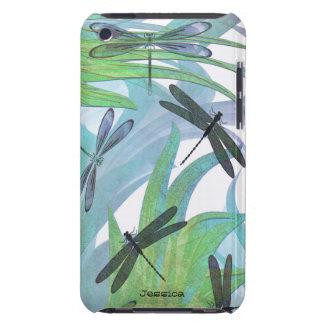 Costume colorido do abstrato da libélula capa para iPod touch