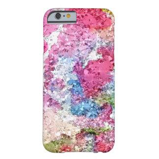 Costume cor-de-rosa e azul da aguarela capa barely there para iPhone 6