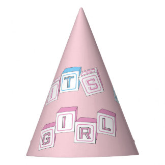 Costume cor-de-rosa é chapéus de chá de fraldas