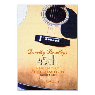 Costume da celebração do aniversário da guitarra convite 8.89 x 12.7cm