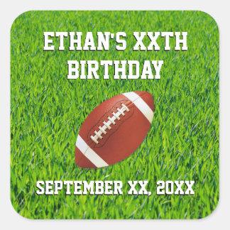 Costume da festa de aniversário do futebol adesivo quadrado