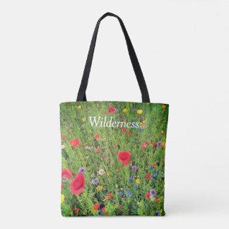 Costume da foto das flores selvagens toda sobre - bolsa tote