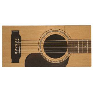 Costume da guitarra acústica pen drive de madeira