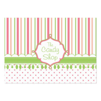 Costume da loja dos doces carnudo cartão de visita grande
