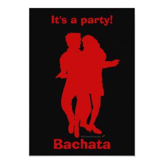 Costume da silhueta dos dançarinos de Bachata Convite Personalizado