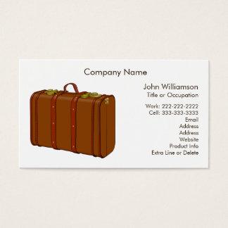 Costume de couro do tema do viagem da mala de cartão de visitas