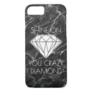 Costume de mármore preto do diamante capa iPhone 7