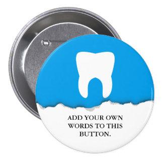 Costume de papel rasgado do dente da odontologia bóton redondo 7.62cm