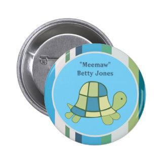 Costume do botão do aniversário do chá de fraldas boton