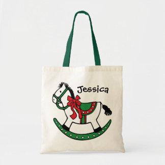Costume do cavalo de balanço do Natal Bolsas