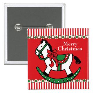 Costume do cavalo de balanço do Natal Botons