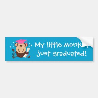 Costume do formando do macaco da menina adesivo para carro