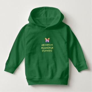 Costume do hoodie do verde do pulôver da criança