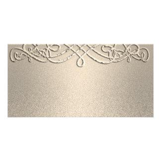 Costume do modelo do brilho do Shimmer do ouro Cartão Com Foto