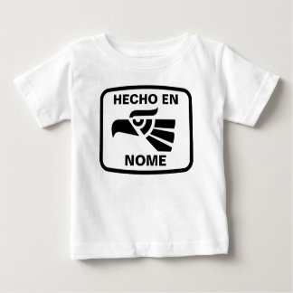 Costume do personalizado do en Nome de Hecho Camiseta Para Bebê