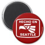 Costume do personalizado do en Seattle de Hecho pe Imã De Geladeira