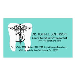Costume do símbolo da odontologia cartão de visita
