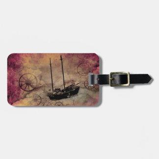 Costume do Tag da bagagem do veleiro de Steampunk Tags De Mala