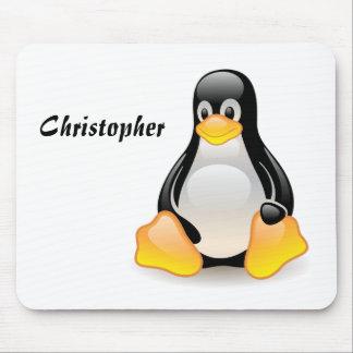 Costume dos desenhos animados do pinguim, nome per mouse pad