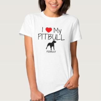 Costume eu amo meu Pitbull Camiseta