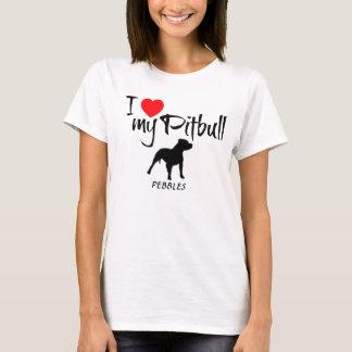 Costume eu amo meu Pitbull Tshirts
