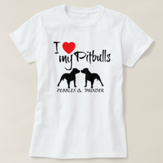 Costume eu amo meu Pitbulls Camiseta