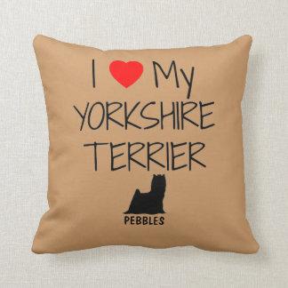 Costume eu amo meu yorkshire terrier almofada