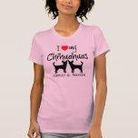 Costume eu amo minhas duas chihuahuas tshirt