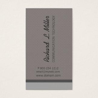 Costume incorporado neutro minimalista cartão de visitas