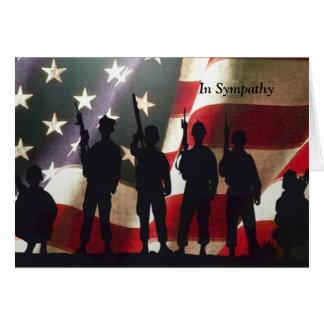 Costume militar patriótico da simpatia do soldado cartão comemorativo