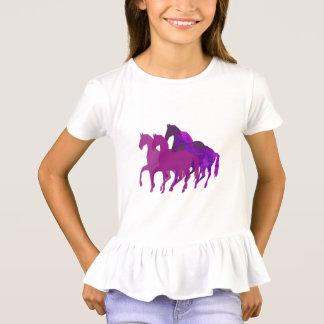 Costume moderno do cavalo roxo da fantasia da camiseta