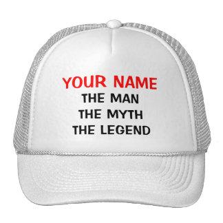 Costume o chapéu da legenda do mito do homem boné