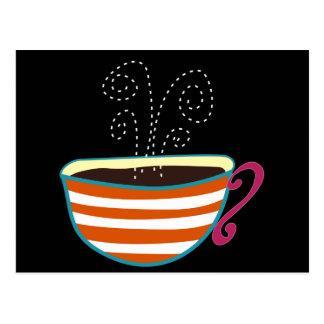 Costume retro do chá do copo de café cartão postal