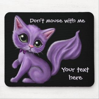 Costume roxo Mousepad do gatinho