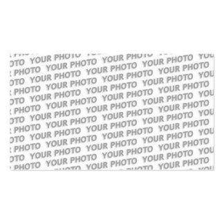 Costume sua cor do texto, da imagem & do fundo cartão de visita