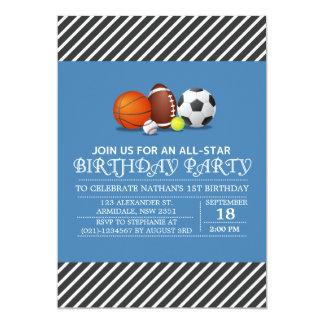 Costume uma festa de aniversário All-star do Convites Personalizado