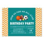 Costume uma festa de aniversário All-star do Convite
