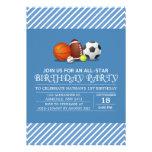 Costume uma festa de aniversário All-star do espor Convites