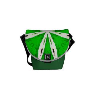 Costume verde a bolsa mensageiro impressa do