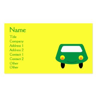 Costume verde de sorriso bonito do amarelo do cartão de visita