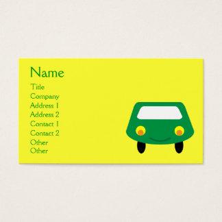 Costume verde de sorriso bonito do amarelo do cartão de visitas
