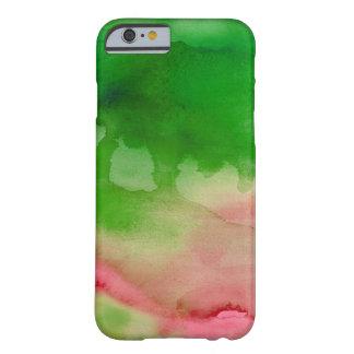 Costume verde e cor-de-rosa da aguarela capa barely there para iPhone 6