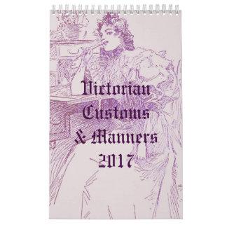 Costumes & maneiras do Victorian Calendário