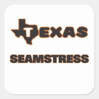Costureira de Texas Adesivo Quadrado
