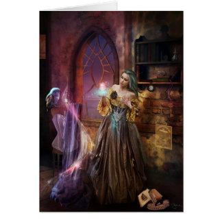 Costureira Enchanted Cartão Comemorativo