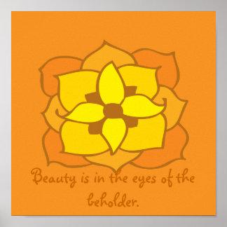 cotação floral beleza e bej holder impressão
