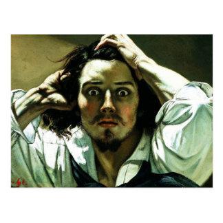 Courbet o cartão desesperado do homem